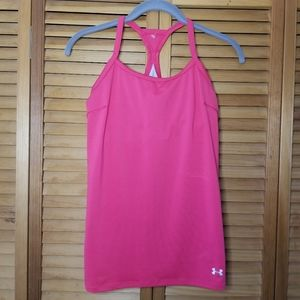 UNDER ARMOR Sports Bra Tank Top Active Pink Medium